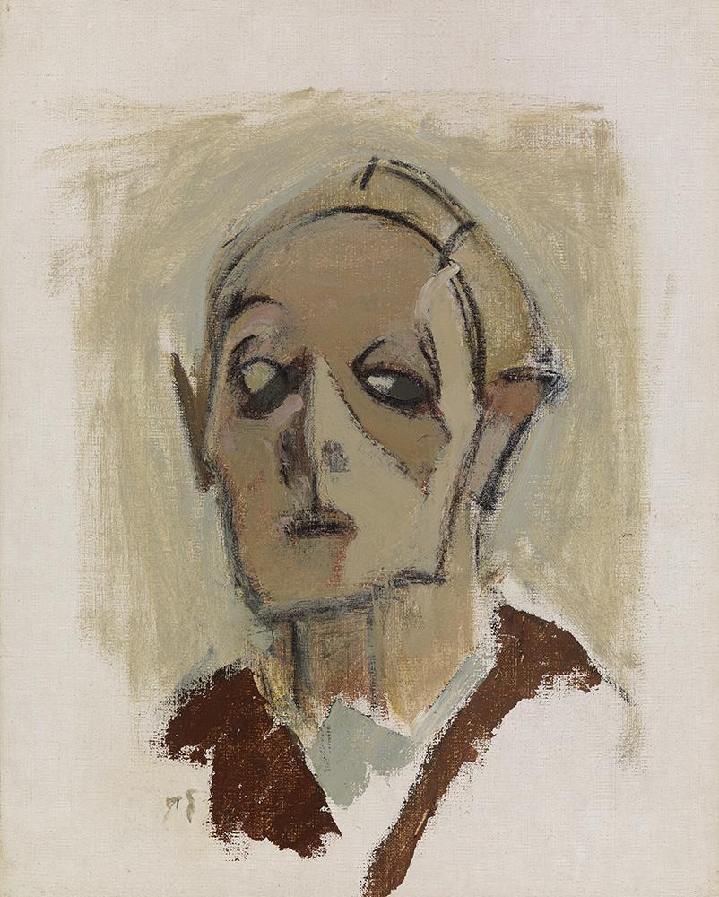 Helene Schjerfbeck: Omakuva, en face I (1945)