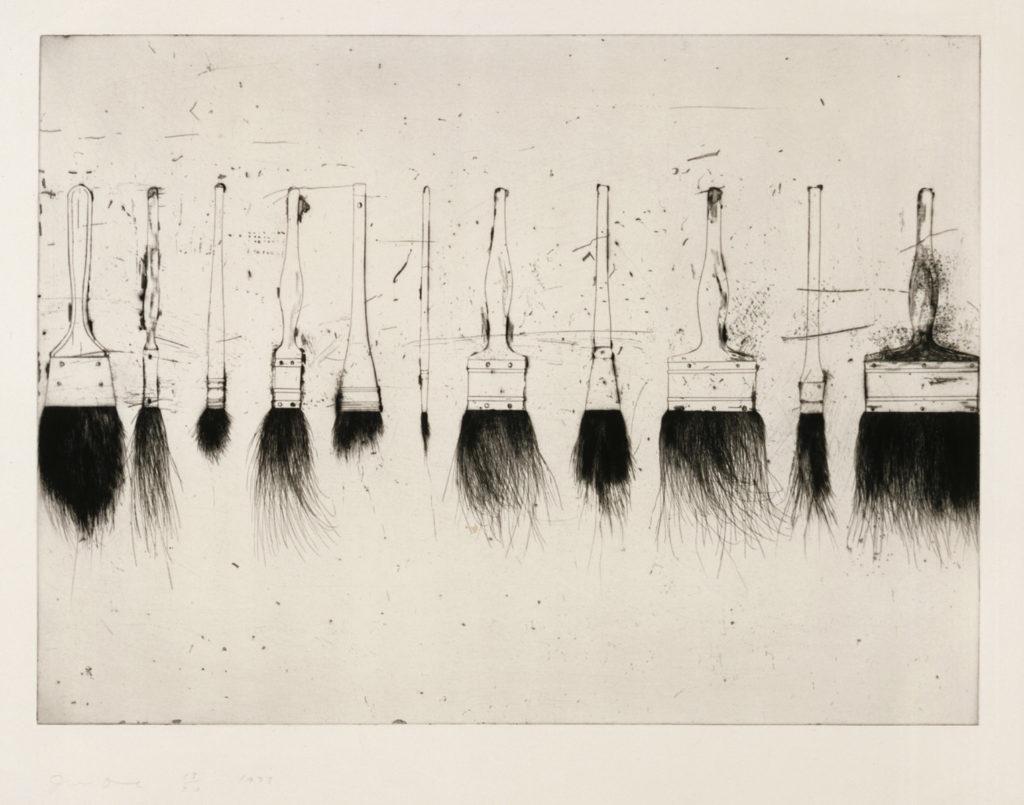 Jim Dine: Viisi maalisutia, 1973. Kansallisgalleria / Nykytaiteen museo Kiasma. Kuva: Kansallisgalleria / Petri Virtanen