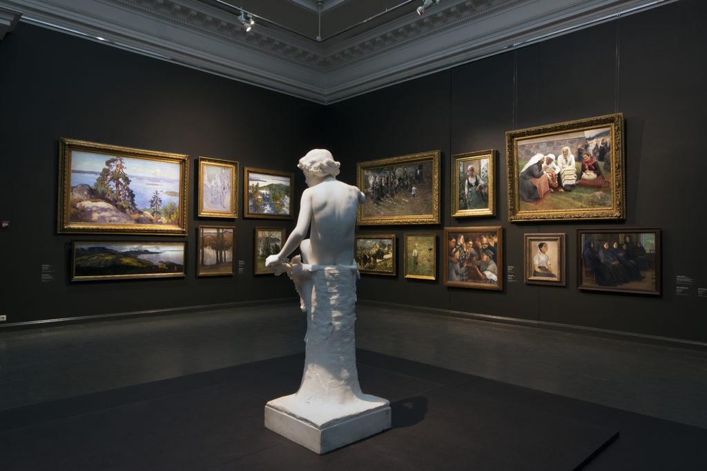 Stories of Finnish Art - Ateneum's collection display. Photo: Finnish National Gallery / Hannu Pakarinen
