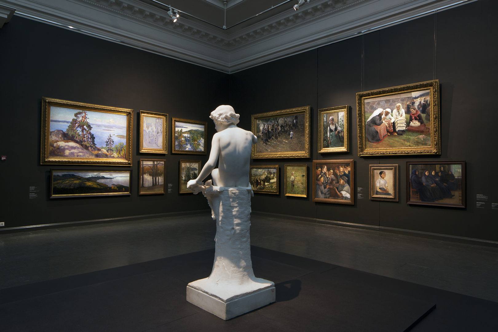 Stories of Finnish Art - Ateneum's collection display. Photo: Finnish National Gallery / Hannu Pakarinen