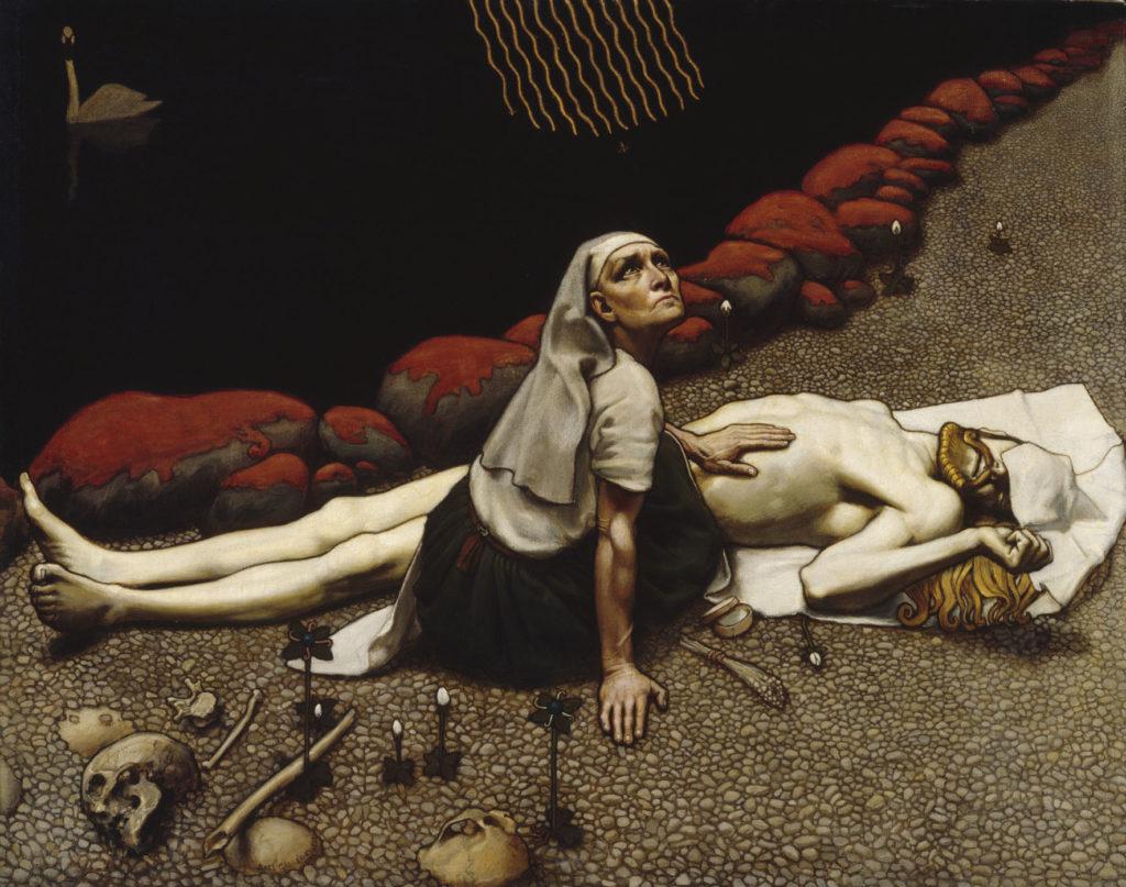 Akseli Gallen-Kallela: Lemminkäisen äiti, 1897. Kansallisgalleria / Ateneumin taidemuseo, kok. Antell. Kuva: Kansallisgalleria / Jouko Könönen