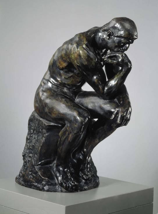 Auguste Rodin: Ajattelija, 1881-1882, tämä jälkivalos 1964. Kansallisgalleria / Ateneumin taidemuseo. Kuva: Kansallisgalleria / Hannu Aaltonen