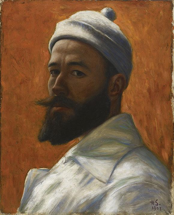 Hugo Simberg: Självporträtt, 1907. Finlands Nationalgalleri / Konstmuseet Ateneum. Bild: Finlands Nationalgalleri / Hannu Pakarinen