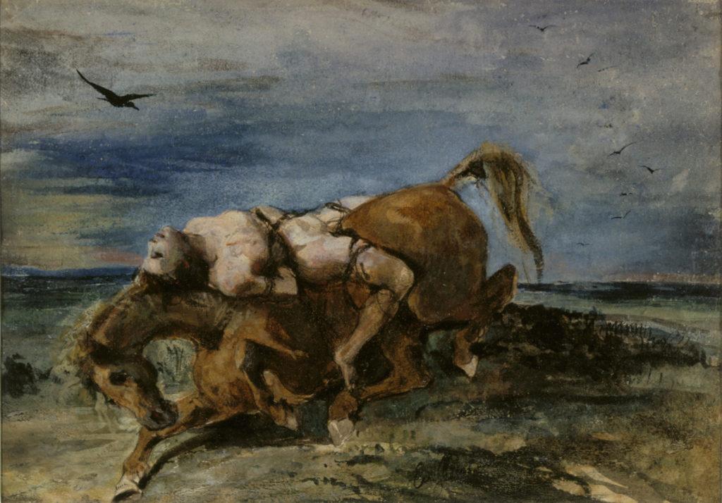 Eugène Delacroix: Mazeppa kuolevan hevosen selässä, n. 1824. Kansallisgalleria / Sinebrychoffin taidemuseo, Ateneumin ystävien kokoelma. Kuva: Kansallisgalleria / Janne Mäkinen