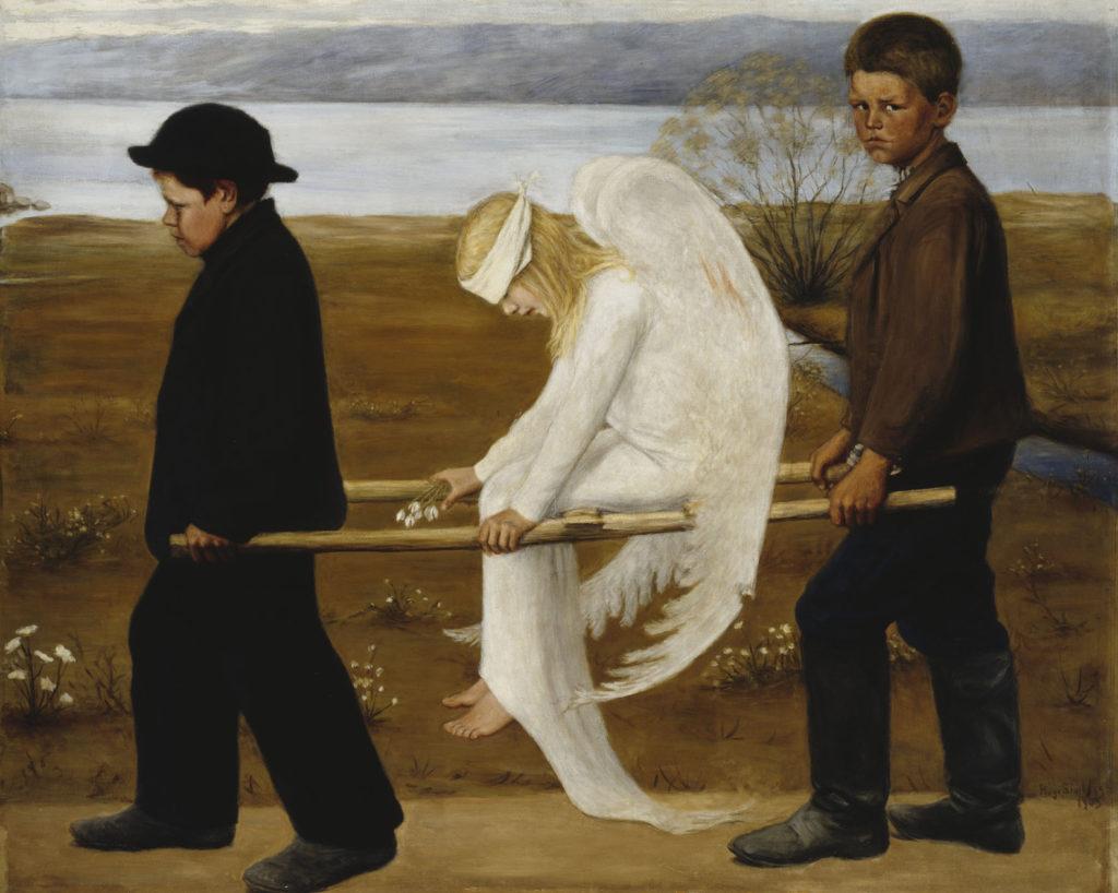 Hugo Simberg: Haavoittunut enkeli, 1903. Kansallisgalleria / Ateneumin taidemuseo, kok. Ahlström. Kuva: Kansallisgalleria / Hannu Aaltonen