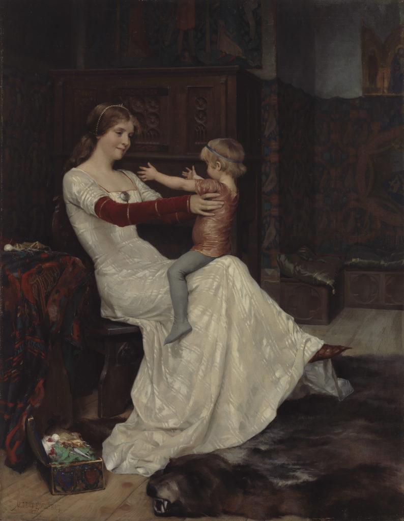 Albert Edelfelt: Kuningatar Blanka, 1877. Kansallisgalleria / Ateneumin taidemuseo, kok. Linder. Kuva: Kansallisgalleria / Hannu Aaltonen
