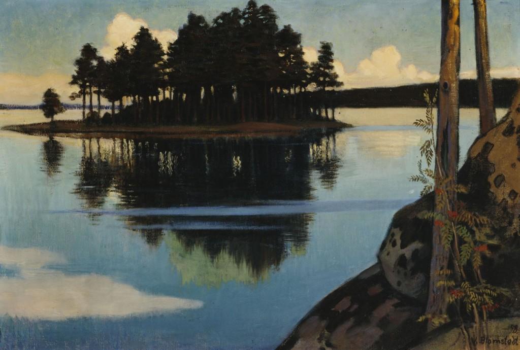 Väinö Blomstedt: Auringonlasku, 1898. Kansallisgalleria / Ateneumin taidemuseo. Kuva: Kansallisgalleria / Hannu Aaltonen