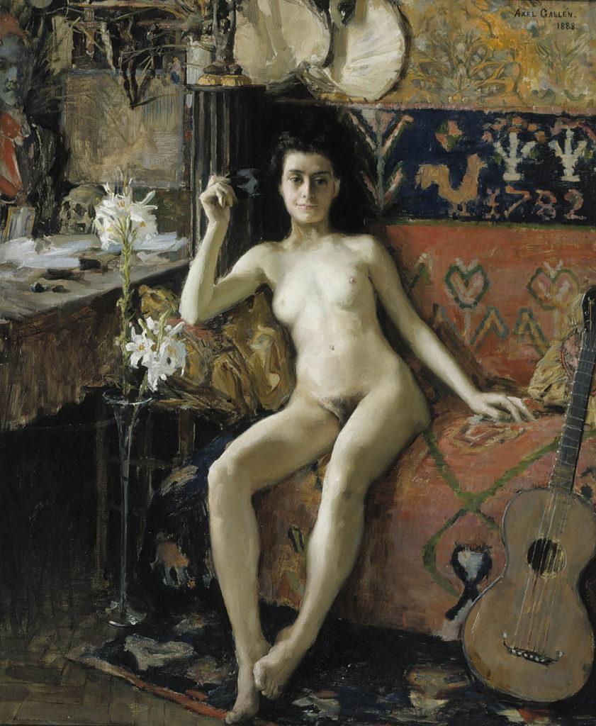Akseli Gallen-Kallela: Démasquée, 1888. Kansallisgalleria / Ateneumin taidemuseo, kok. Antell. Kuva: Kansallisgalleria / Pirje Mykkänen