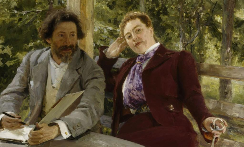 Ilja Repin: Natalia Nordmannin ja Ilja Repinin kaksoismuotokuva, 1903. Kansallisgalleria / Ateneumin taidemuseo. Kuva: Kansallisgalleria