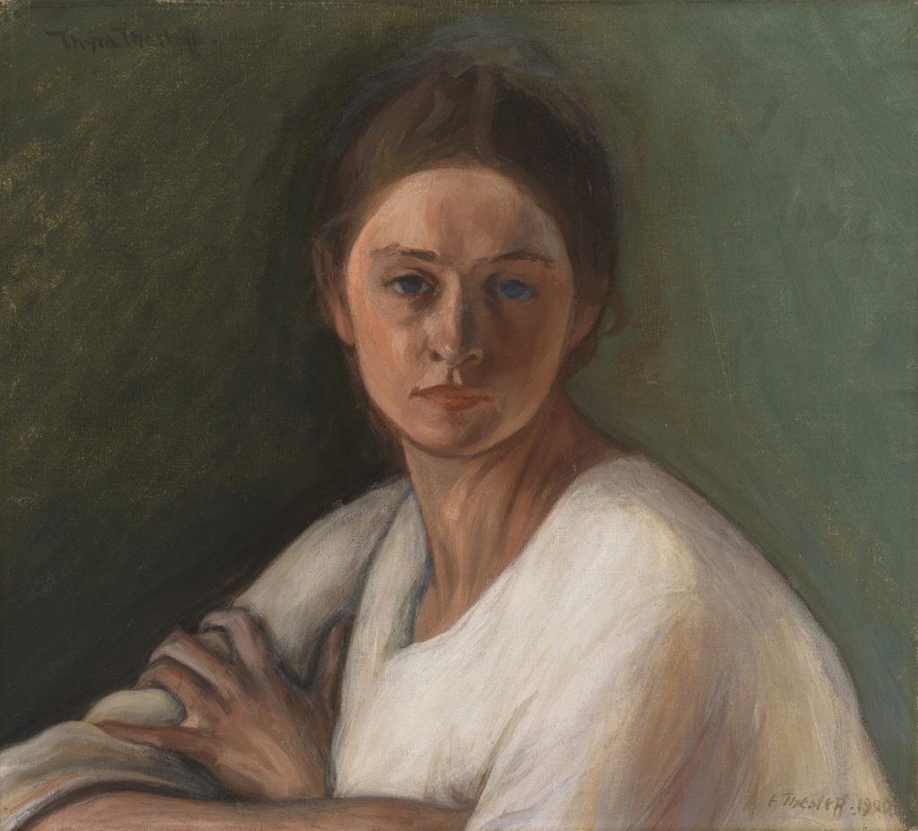 Ellen Thesleff: Muotokuva (Thyra Thesleff), 1900. Kansallisgalleria / Ateneumin taidemuseo. Kuva: Kansallisgalleria / Yehia Eweis