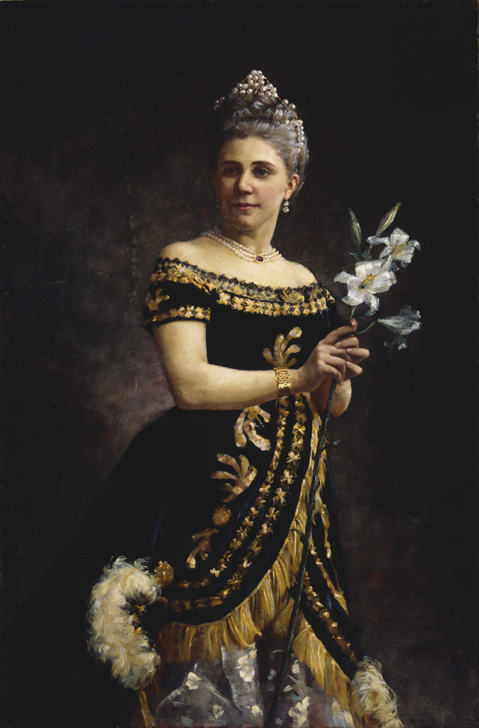Maria Wiik: Portrait of opera singer Ida Basilier-Magelsen in the role of Philine in the opera Mignon, 1887. Finnish National Gallery / Ateneum Art Museum, coll. Antell. Photo: Finnish National Gallery / Ainur Nasredtin