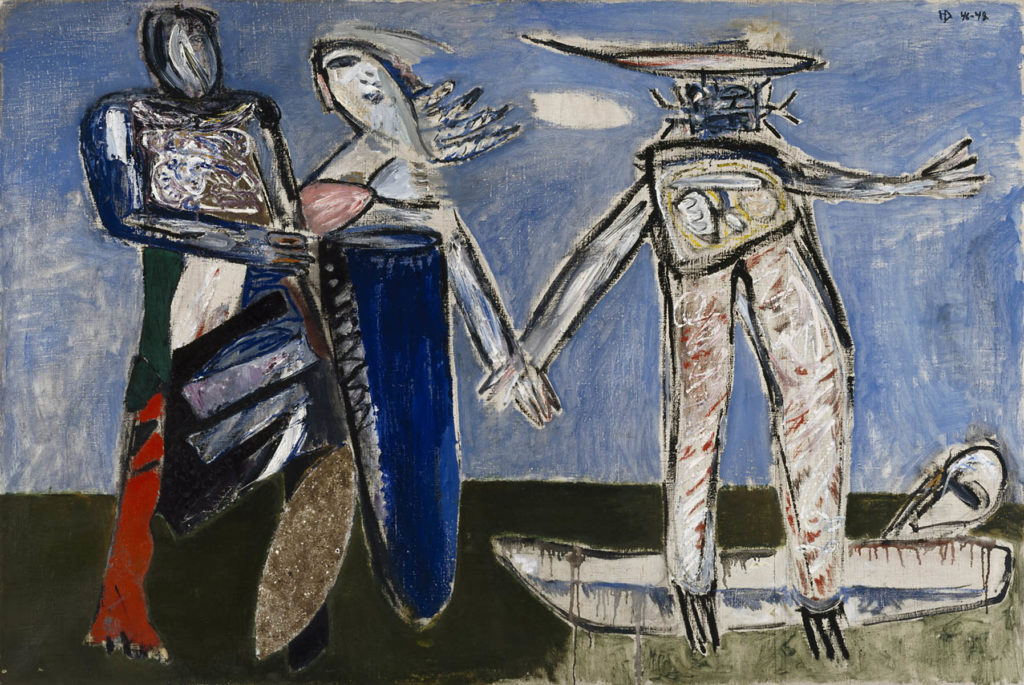 Helge Dahlman: War (Composition), 1946–1948. Ateneum Art Museum. Photo: Finnish National Gallery / Hannu Aaltonen