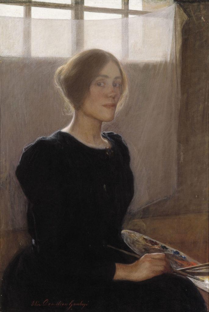 Elin Danielson-Gambogi: Omakuva, 1900. Kansallisgalleria / Ateneumin taidemuseo, kok. Antell. Kuva: Kansallisgalleria / Kari Soinio