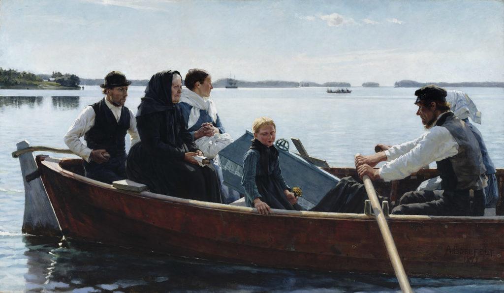 Albert Edelfelt: Lapsen ruumissaatto, 1879. Kansallisgalleria / Ateneumin taidemuseo, kok. Antell. Kuva: Kansallisgalleria / Hannu Aaltonen