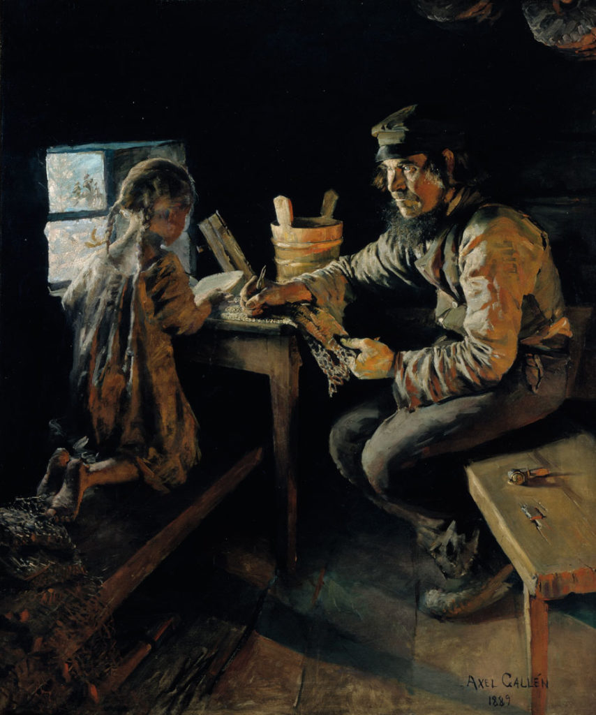 Akseli Gallen-Kallela: First Lesson, 1887-89. Finnish National Gallery / Ateneum Art Museum, coll. Hallonblad. Photo: Finnish National Gallery / Pirje Mykkänen