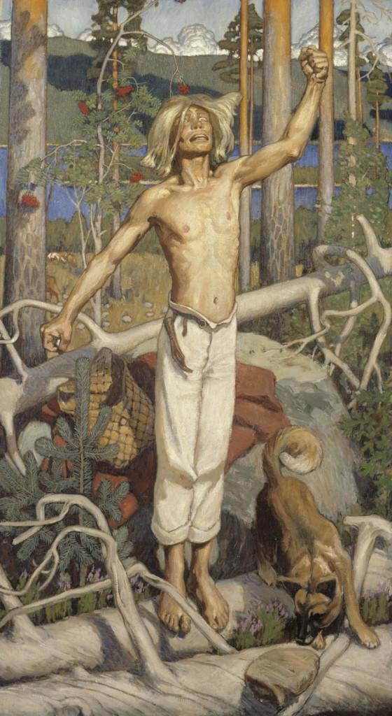 Akseli Gallen-Kallela: Kullervon kirous, 1899. Kansallisgalleria / Ateneumin taidemuseo, kok. Antell. Kuva: Kansallisgalleria / Jouko Könönen