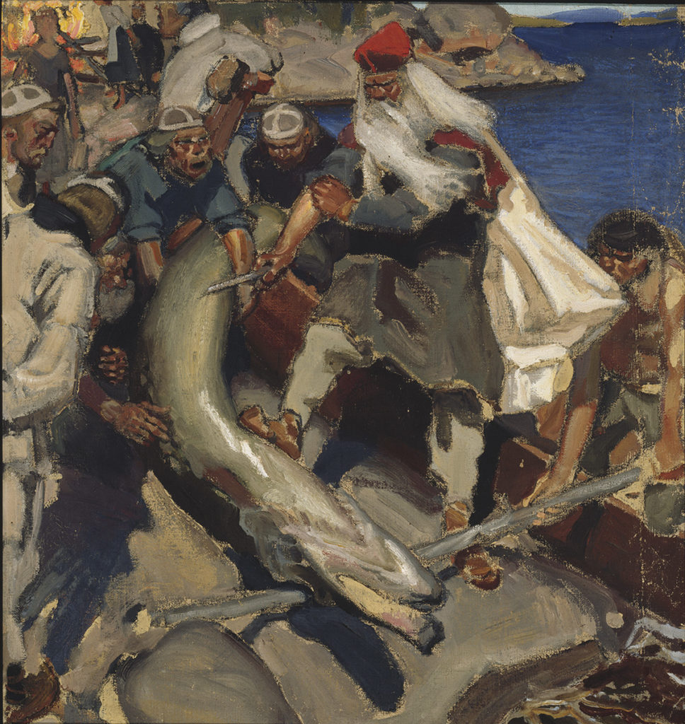 Akseli Gallen-Kallela: The Giant Pike, 1904. Finnish National Gallery / Ateneum Art Museum. Photo: Finnish National Gallery / Pirje Mykkänen