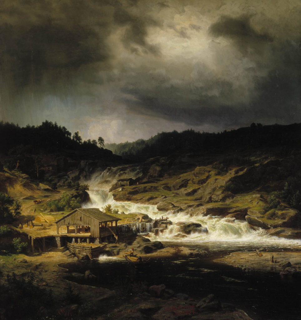 Werner Holmberg: The Kyrö Rapids, 1854. Finnish National Gallery / Ateneum Art Museum. Photo: Finnish National Gallery / Jouko Könönen