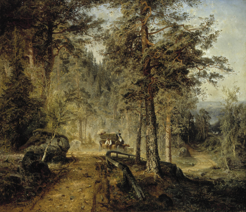 Werner Holmberg: Road in Häme (A Hot Summer Day), 1860