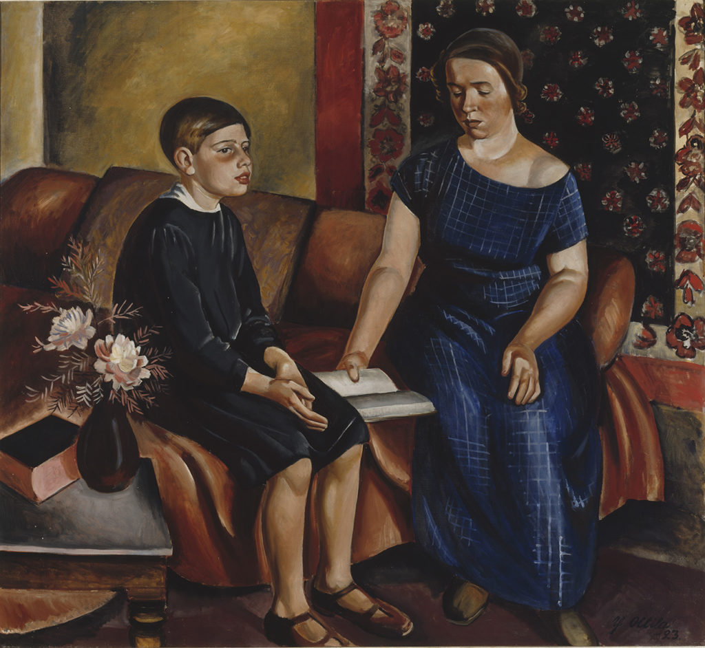 Yrjö Ollila: Hearing the Homework, 1923. Ateneum Art Museum, coll. Hoving. Photo: Finnish National Gallery / Hannu Aaltonen