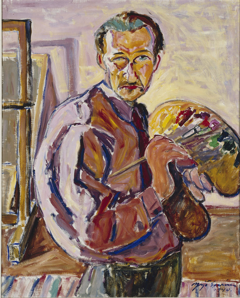 Yrjö Saarinen: Self-Portrait, 1940. Finnish National Gallery / Ateneum Art Museum. Photo: Finnish National Gallery / Janne Mäkinen