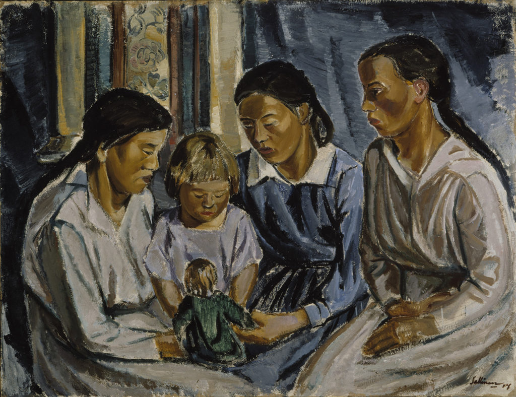Tyko Sallinen: The Tradesman's Daughters, 1917. Ateneum Art Museum, coll. Hoving. Photo: Finnish National Gallery / Jukka Romu