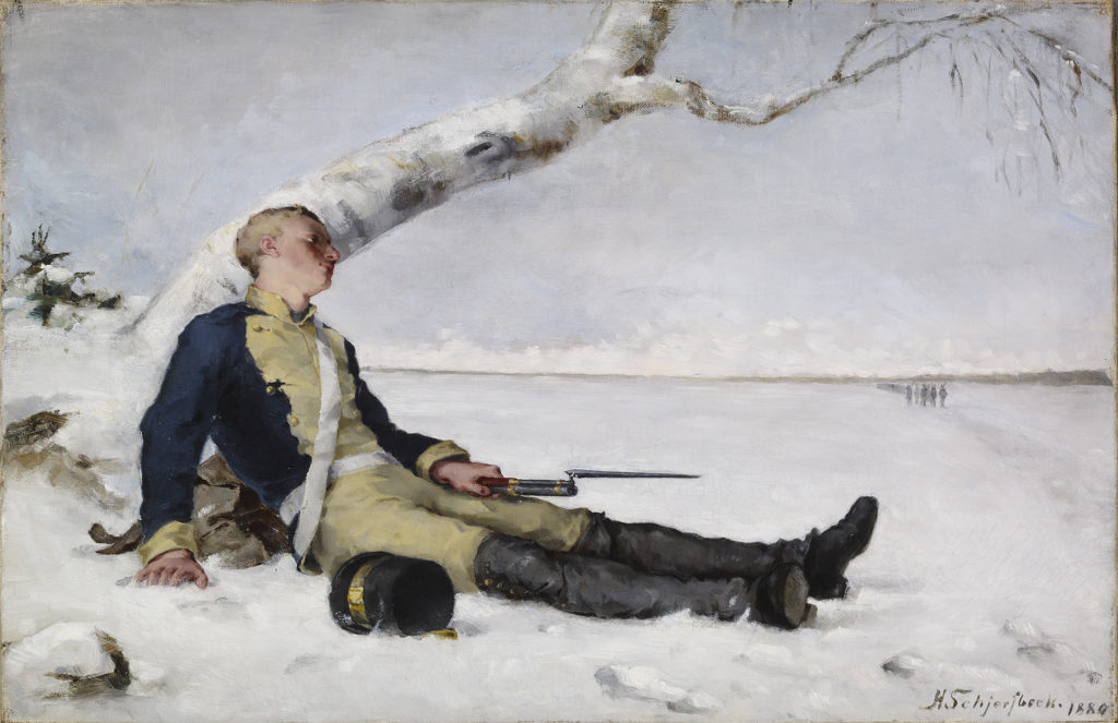 Helene Schjerfbeck: Wounded Warrior in the Snow, 1880. Finnish National Gallery / Ateneum Art Museum. Photo: Finnish National Gallery / Yehia Eweis