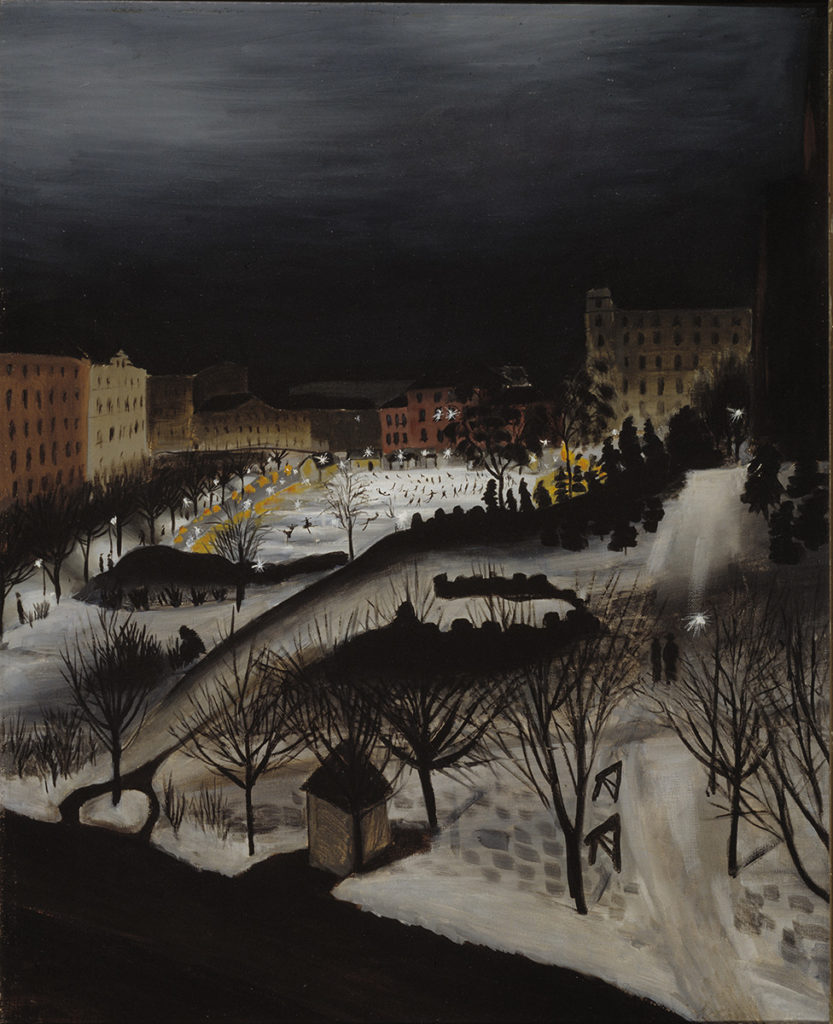 Sulho Sipilä: The Skating Rink, 1932. Ateneum Art Museum. Photo: Finnish National Gallery / Jaakko Holm