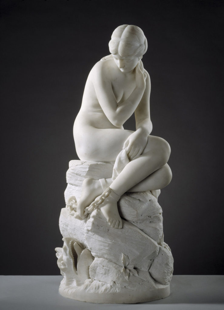 Johannes Takanen: Andromeda, 1878 (marble 1882). Ateneum Art Museum. Photo: Finnish National Gallery / Hannu Aaltonen