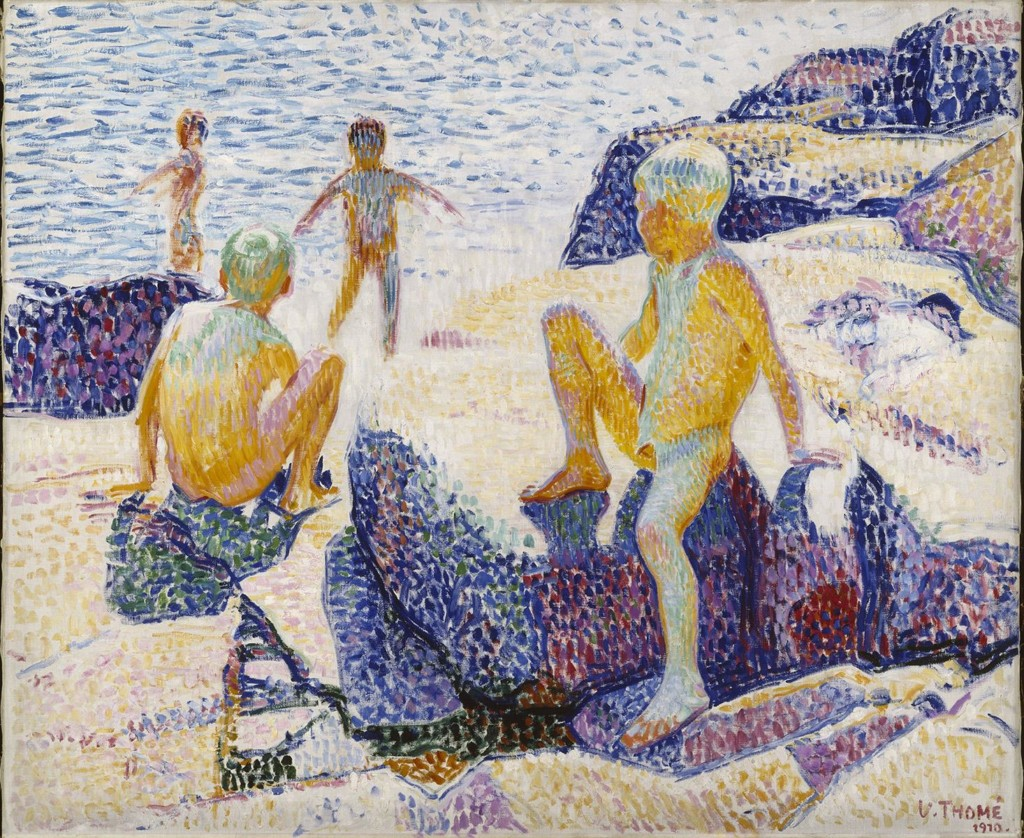 Verner Thomé: Bathing Boys, 1910. Finnish National Gallery / Ateneum Art Museum, coll. Hoving. Photo: Finnish National Gallery / Hannu Aaltonen