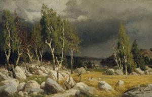 Fanny Churberg: Kaski, maisema Uudeltamaalta, 1872. Kansallisgalleria / Ateneumin taidemuseo, kok. Ahlström. Kuva: Kansallisgalleria / Jukka Romu