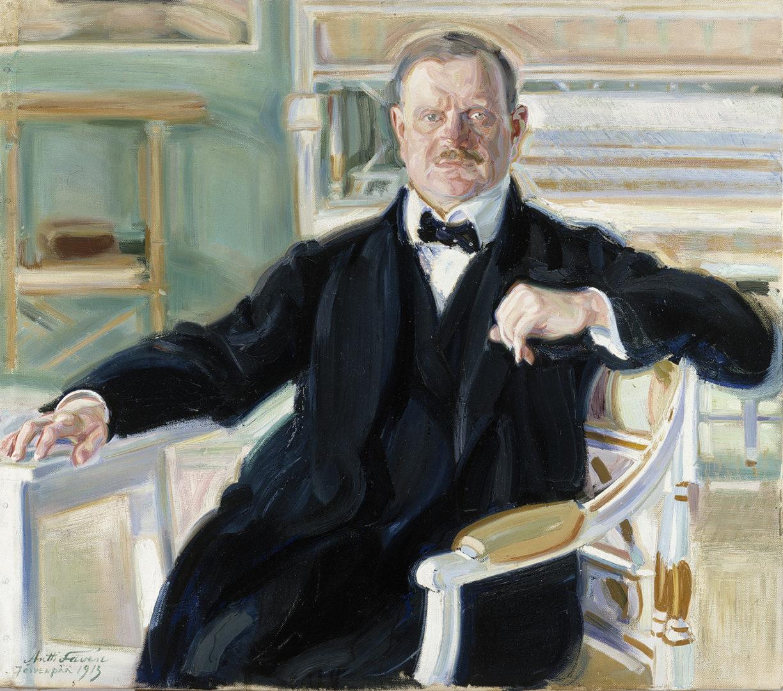 Antti Favén: Jean Sibeliuksen muotokuva, 1913. Kansallisgalleria / Ateneumin taidemuseo, kok. Keirkner. Kuva: Kansallisgalleria / Hannu Aaltonen