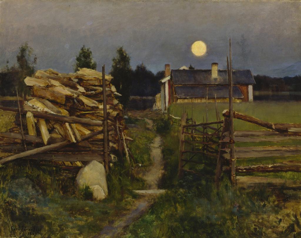 Eero Järnefelt: Kesäyön kuu, 1889. Kansallisgalleria / Ateneumin taidemuseo. Kuva: Kansallisgalleria / Antti Kuivalainen