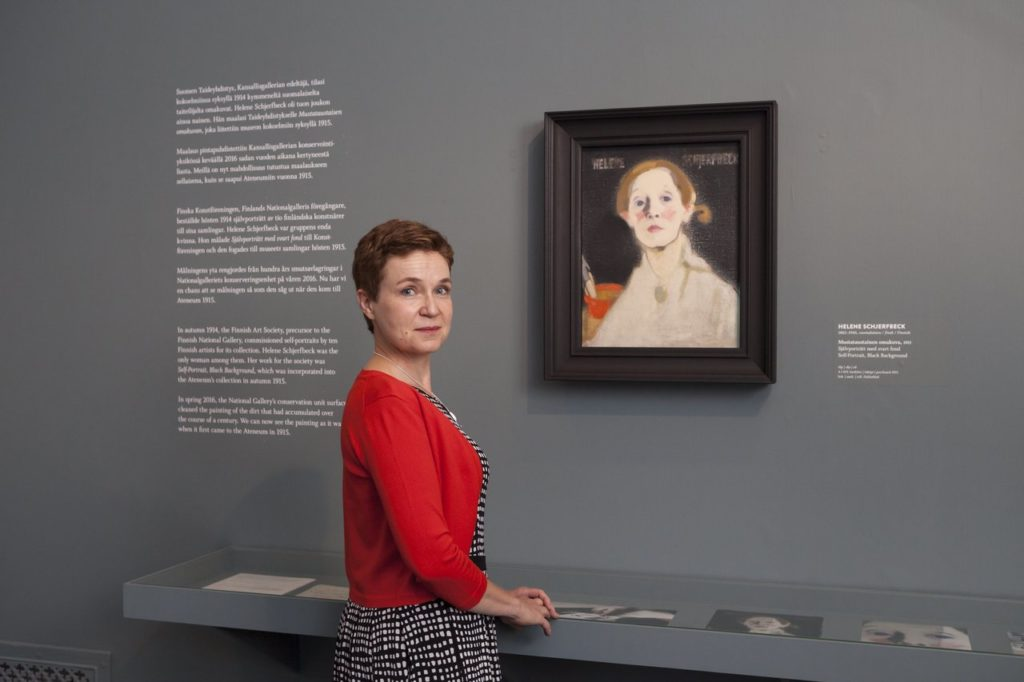 Kirjailija Sirpa Kähkönen vaikuttuu yhä uudelleen Helene Schjerfbeckin sitkeästä ja vimmaisesta tavasta etsiä omaa ilmaisuaan.