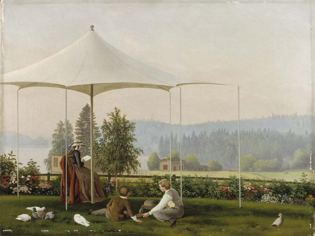Ferdinand von Wright: Haminalahden puutarhassa, n. 1856-57. Kansallisgalleria / Ateneumin taidemuseo. Kuva: Kansallisgalleria