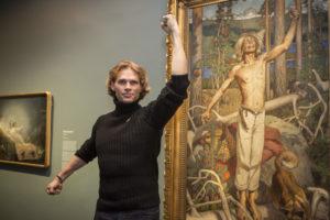 Kullervon tarina on aina innoittanut taiteilijoita, tällä kertaa poseeraamaan.