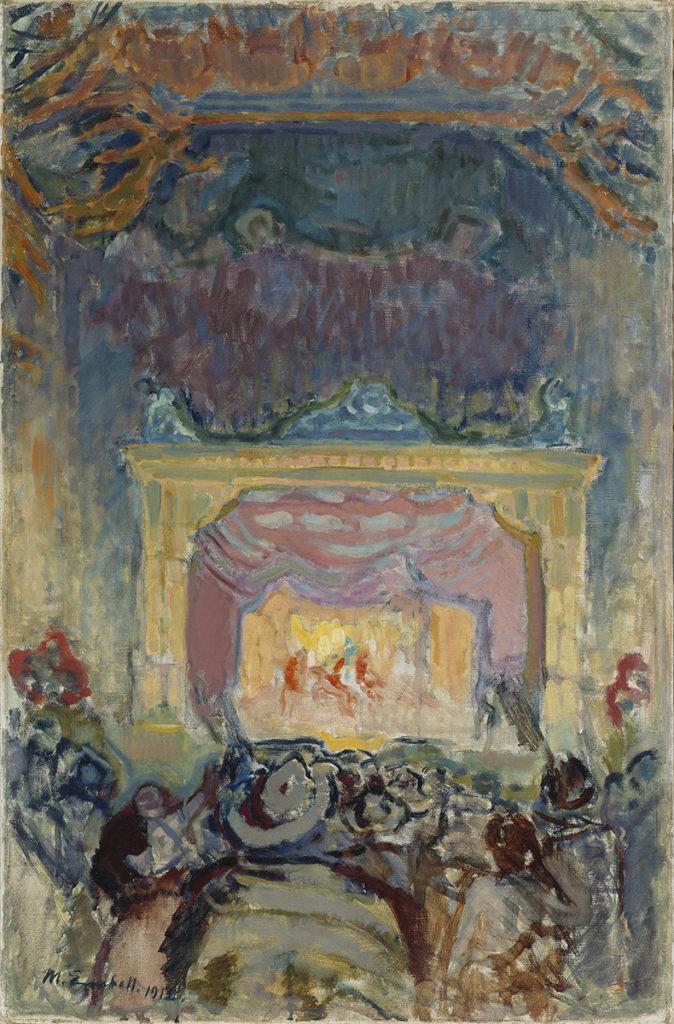 Magnus Enckell: Varietéteater i Paris, 1912. Finlands Nationalgalleri / Konstmuseet Ateneum. Bild: Finlands Nationalgalleri / Janne Mäkinen