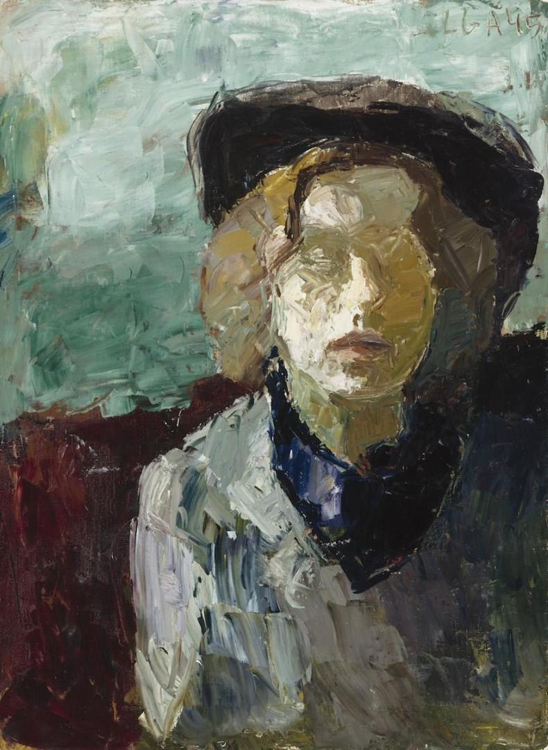 Elga Sesemann: Självporträtt (1945). Finlands Nationalgalleri/Konstmuseet Ateneum. Bild: Finlands Nationalgalleri/Janne Tuominen.