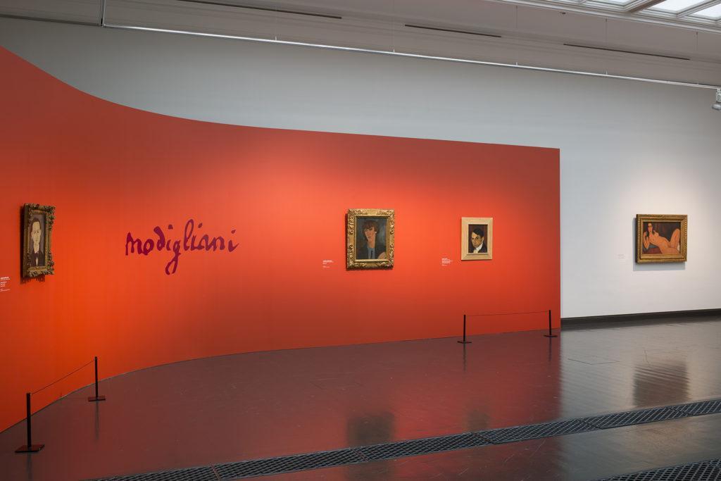 Amedeo Modigliani -näyttely. Kuva: Kansallisgalleria / Jenni Nurminen