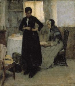 Maria Wiik: Maailmalle, 1889. Kansallisgalleria / Ateneumin taidemuseo, kok. Hoving. Kuva: Kansallisgalleria / Antti Kuivalainen