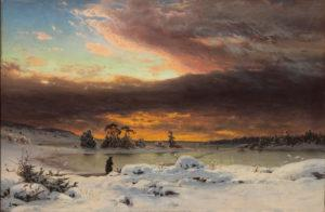 Fanny Churberg: Talvimaisema, auringon mailleen mentyä, 1880. Kansallisgalleria / Ateneumin taidemuseo. Kuva: Kansallisgalleria / Yehia Eweis