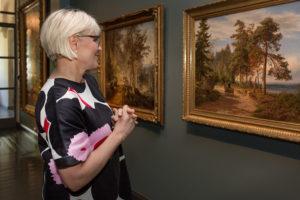 Hjalmar Munsterhjelmin Maantie Suomessa (1865) on suomalaisten maisemamaalausten klassikko.