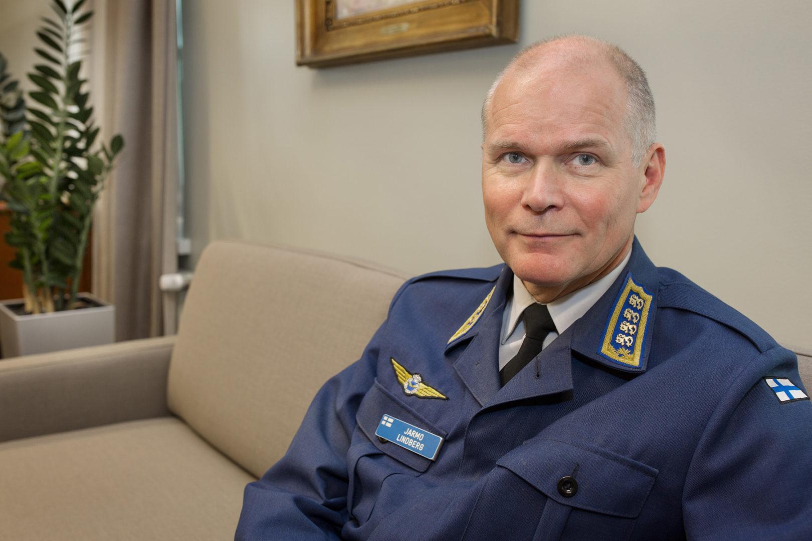 Puolustusvoimain komentaja Jarmo Lindberg. Kuva: Kansallisgalleria / Jenni Nurminen
