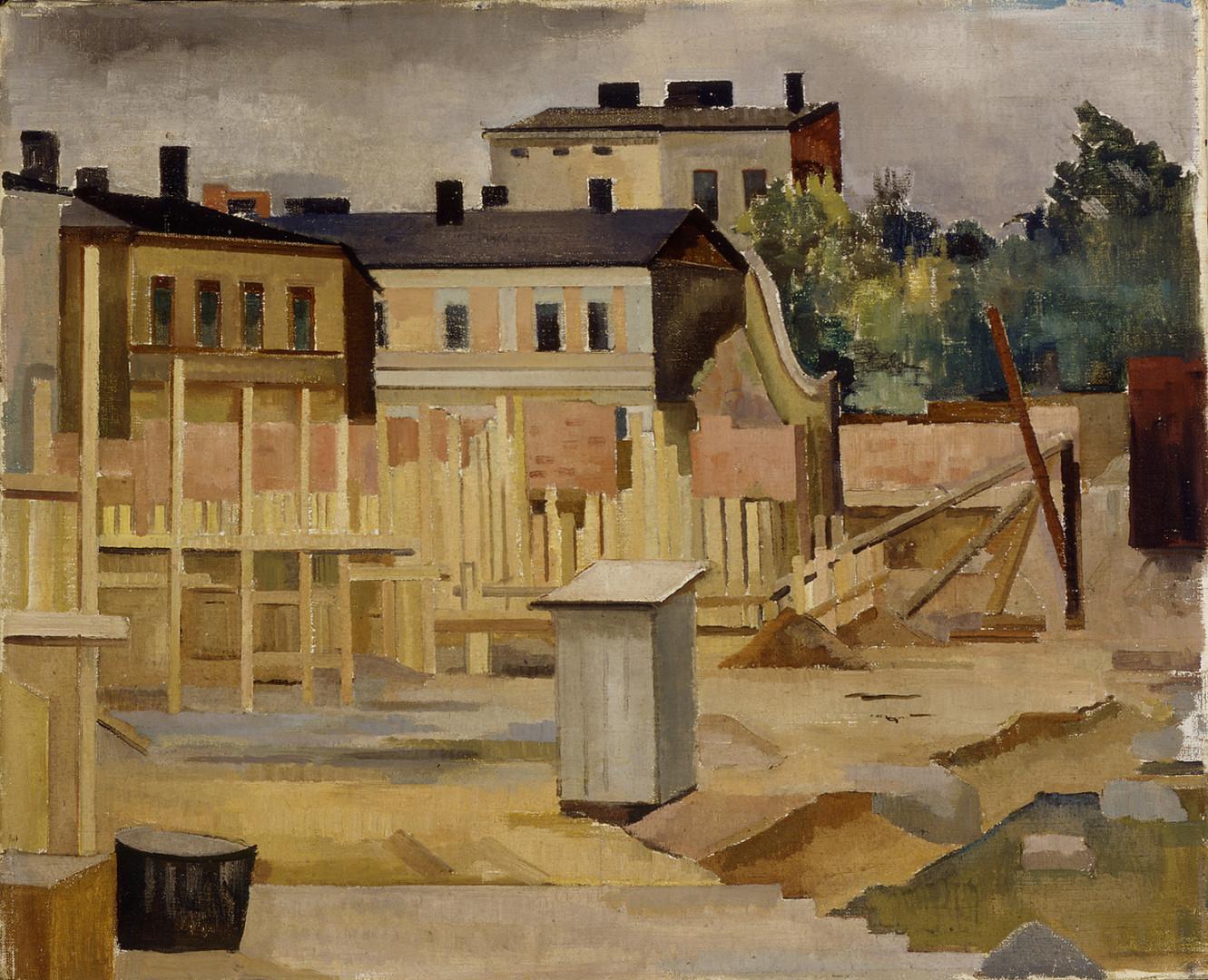 Ragnar Ekelund: Rakennustyömaa, n. 1929. Kansallisgalleria / Ateneumin taidemuseo, kok. Antell. Kuva: Kansallisgalleria / Jukka Romu