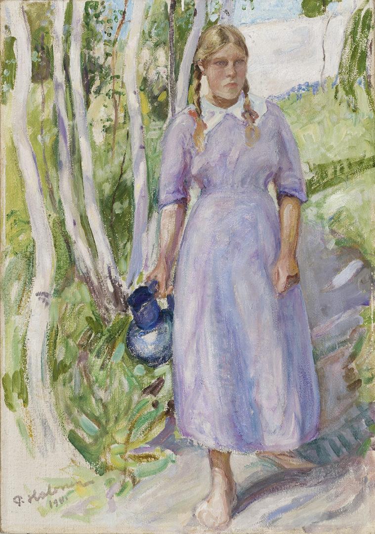 Pekka Halonen: Veden noutaja, 1911. Kansallisgalleria / Ateneumin taidemuseo. Kuva: Kansallisgalleria / Hannu Pakarinen