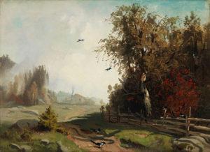 Werner Holmberg: Syysaamu Hakadalissa, 1858. Ateneumin taidemuseo, kok. Antell. Kuva: Kansallisgalleria / Yehia Eweis