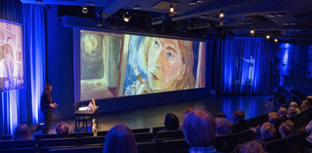 Yleisöjohdanto Tove Jansson -näyttelyyn 2014.
