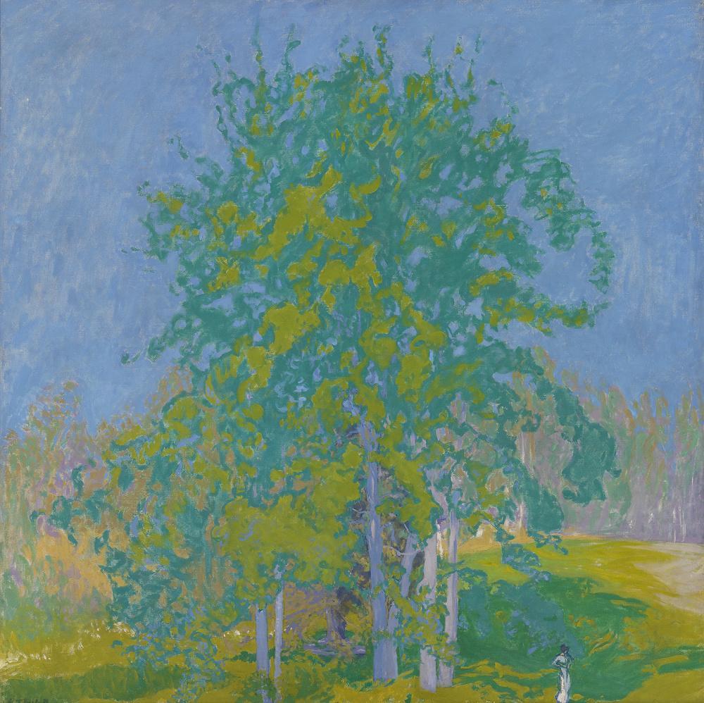 Ellen Thesleff: Koristeellinen maisema (1910).