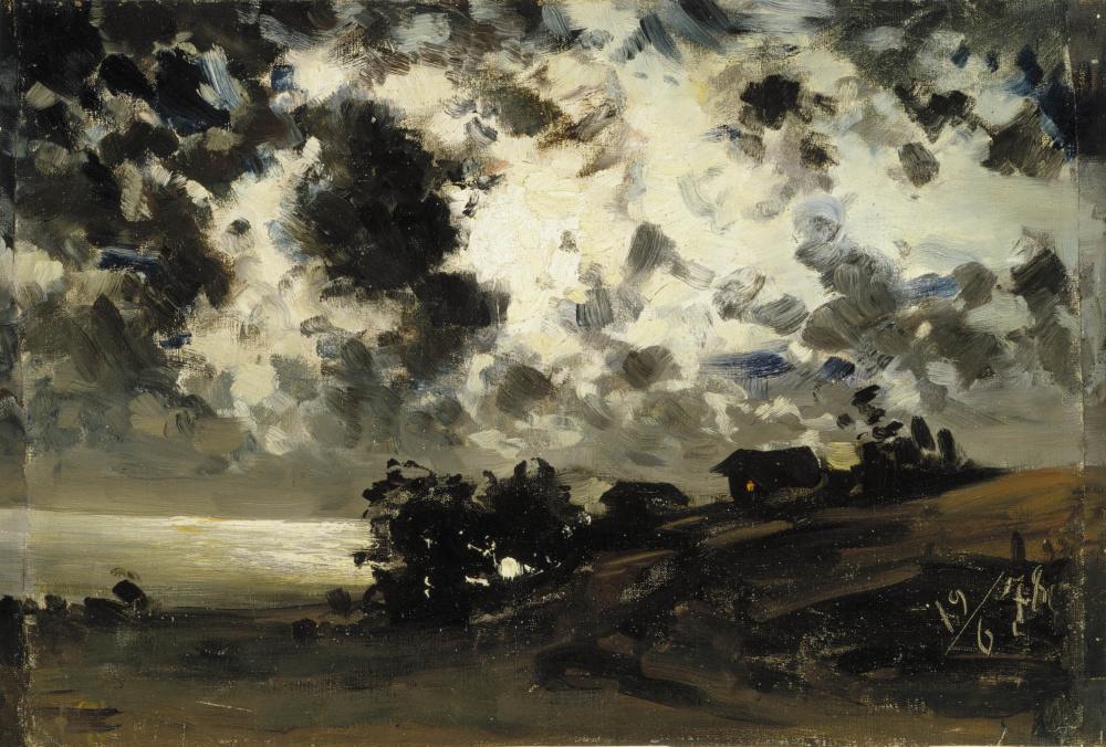 Fanny Churberg, Kuutamo, harjoitelma, 1878.