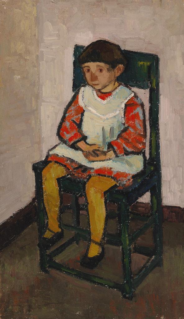 teoskuva: Gunvor Grönvik: Istuva tyttö (1940)